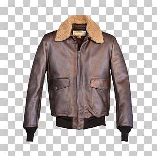 Flight Jacket Schott NYC Leather Jacket Coat PNG