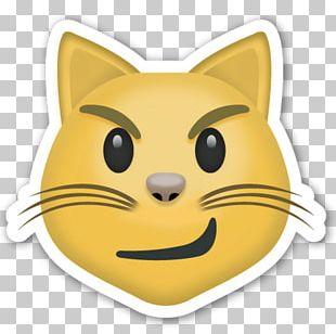 Cat Emoji Sticker Smile Heart PNG