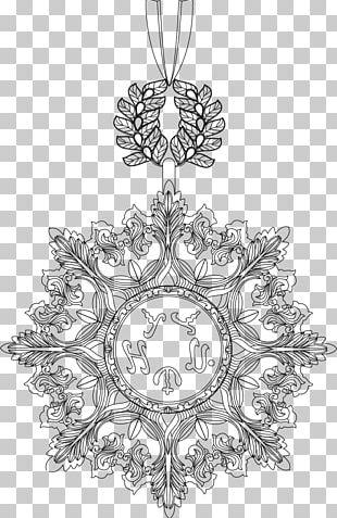 Christmas Ornament Symmetry Tree Line Art Pattern PNG