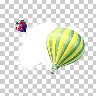 Hot Air Balloon Green PNG