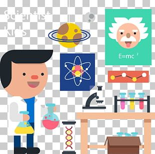 Cartoon Chemist PNG