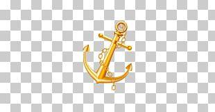 Anchor Gold Watercraft Metal PNG