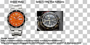 Orient Watch Diving Watch Clock Seiko PNG
