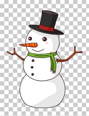 Snowman Cartoon PNG