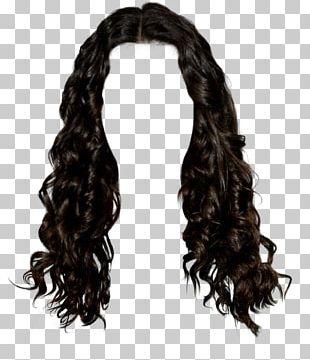 Wig Black Hair Long Hair Brown Hair PNG