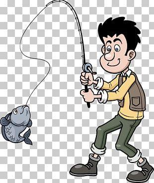 Cartoon Fishing PNG