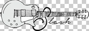 Electric Guitar Musical Instrument Accessory Line Art Font PNG