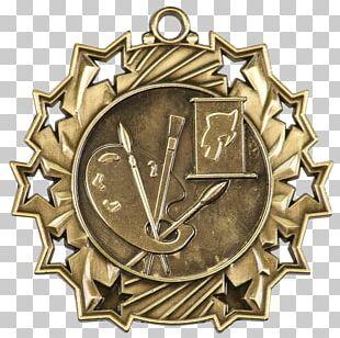 Gold Medal Award Trophy Silver Medal PNG