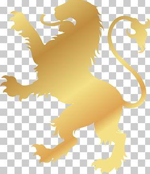 Lion Logo Gold Symbol PNG
