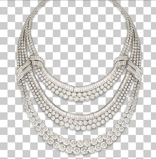 Necklace Jewellery Chain Silver Jewelry Design PNG