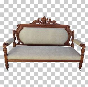 Loveseat Table Couch Antique Furniture Bench PNG