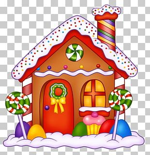 Gingerbread House Hansel And Gretel Lollipop Candy PNG