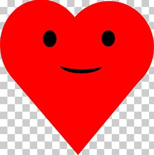 Smiley Heart Valentines Day Love PNG