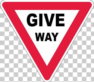 Yield Sign Traffic Sign Stop Sign Driving PNG
