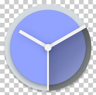 Electric Blue Clock PNG