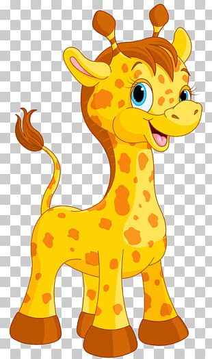Giraffe Cartoon Drawing PNG