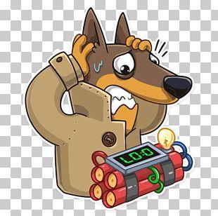 Sticker Telegram Dobermann Espionage PNG