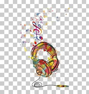 T-shirt Microphone Headphones Watercolor Painting PNG