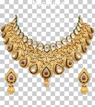 Earring Jewellery Necklace Gold Kundan PNG