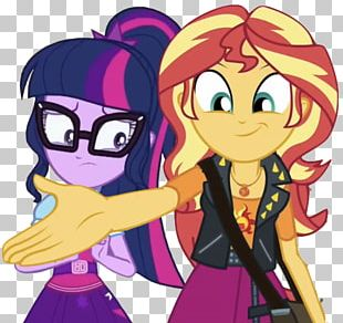 Sunset Shimmer Twilight Sparkle Rarity Pinkie Pie Applejack PNG