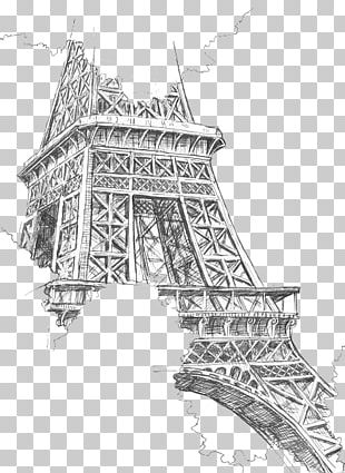 Eiffel Tower Drawing Painting Sketch PNG
