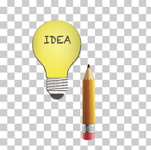 Incandescent Light Bulb Euclidean Pencil PNG