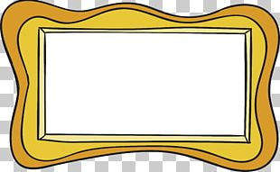 Frame Wave Yellow PNG