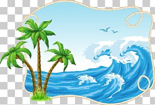 Coconut Tree Material Decorative Patterns Free Buckle PNG