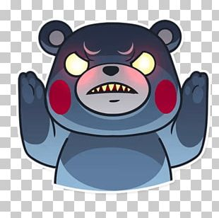 Sticker Kumamon Telegram Bear VKontakte PNG