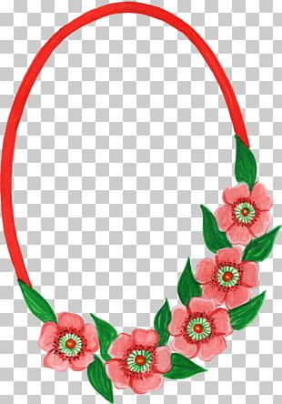 Flower Oval Frames PNG