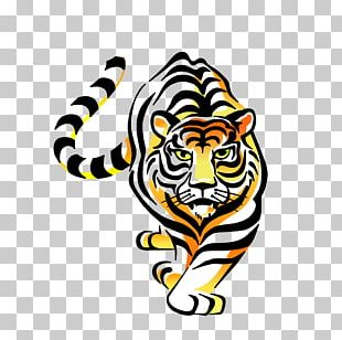 Tiger Paper Car Sticker Decal PNG
