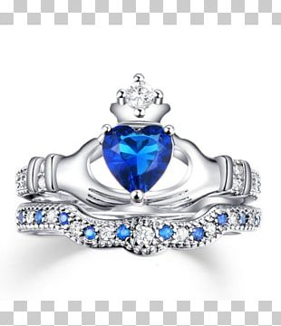 Claddagh Ring Birthstone Wedding Ring Pre-engagement Ring PNG