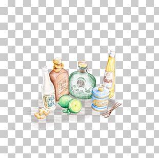 Glass Bottle Liqueur Water Liquid PNG