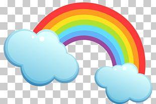 Rainbow Preschool Cloud PNG