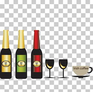 Red Wine Champagne Bottle Wine Glass PNG