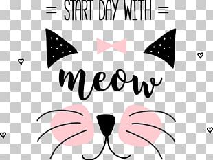Cat Meow Illustration PNG