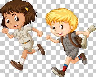 Child Running Cartoon Illustration PNG