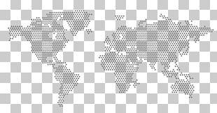 Globe World Map Dot Distribution Map PNG