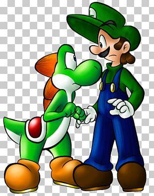 Luigi Mario & Yoshi Super Mario Bros. 3 Drawing PNG
