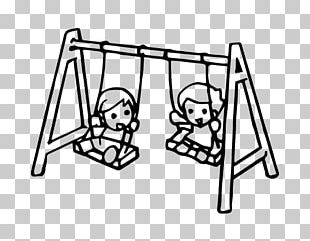 Swing Drawing Child Coloring Book Playground PNG