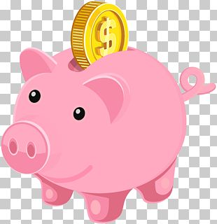 Piggy Bank Coin PNG