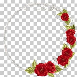 Garden Roses Pearl Necklace Flower PNG
