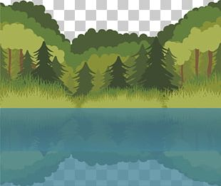 Lake Euclidean Forest PNG