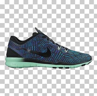 Nike Women's Free 5.0 Tr Fit 5 Prt Training Shoes Nike Free Tr Fit 5 Print Women's Training Shoes Clearwater/Blue Lagoon/Flash Lime Sports Shoes PNG