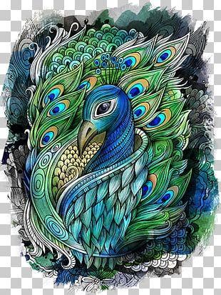 Drawing Watercolor Painting Peafowl Art PNG