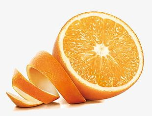Orange Peel And Orange PNG