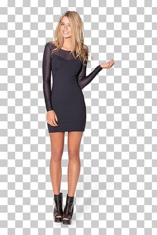 T-shirt Little Black Dress Sleeve Sheer Fabric PNG