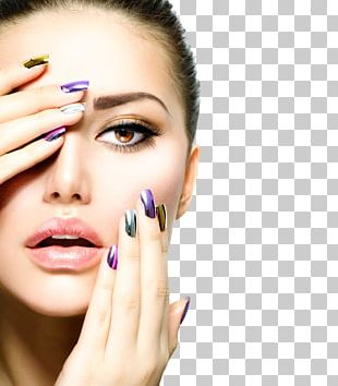 Artificial Nails Manicure Cosmetics Glitter PNG