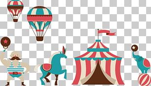 Traveling Carnival Circus Illustration PNG