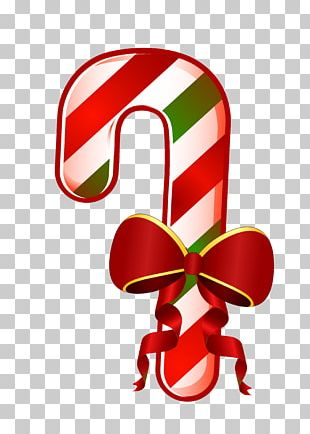 Candy Cane Christmas Walking Stick PNG